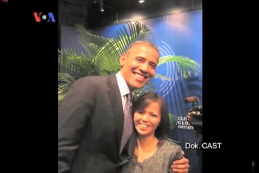 Ima Matul bersama presiden Barack Obama