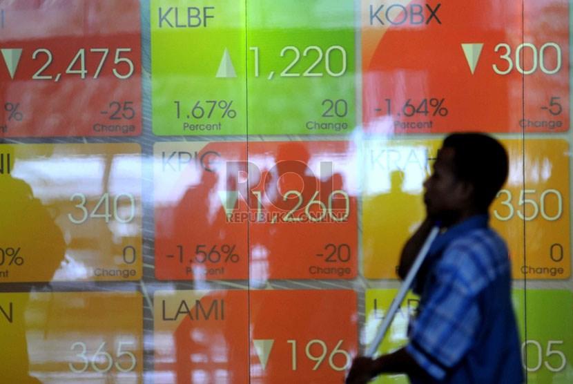 Indeks harga saham gabungan (IHSG) di Bursa Efek Indonesia, Jakarta.    (ilustrasi)