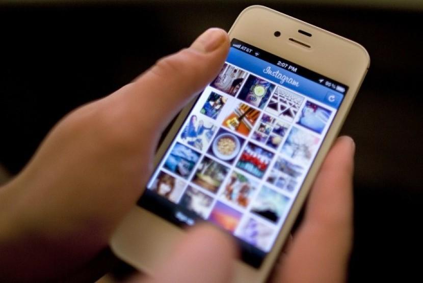 Instagram untuk iPhone. Ilustrasi