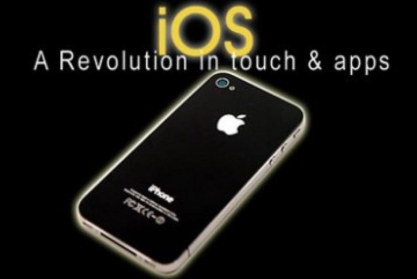 iOS, sistem operasi Apple. Ilustrasi