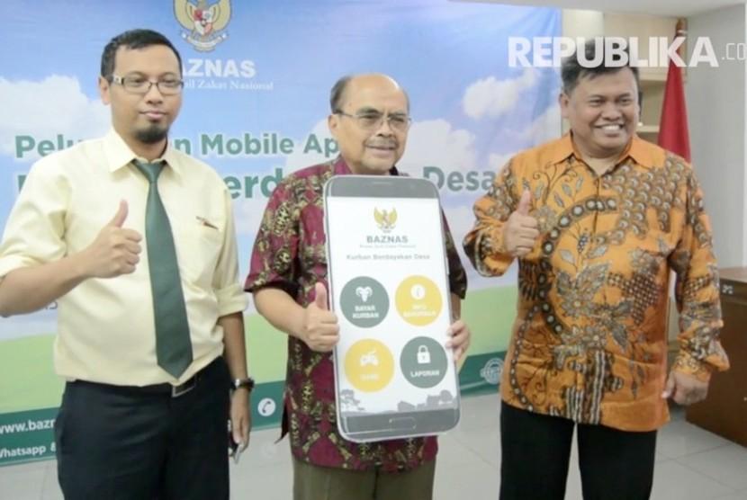 irektur Koordinasi Pengumpulan, Komunikasi, dan Informasi Badan Amil Zakat Nasional (Baznas) Arifin Purwakananta (kanan).