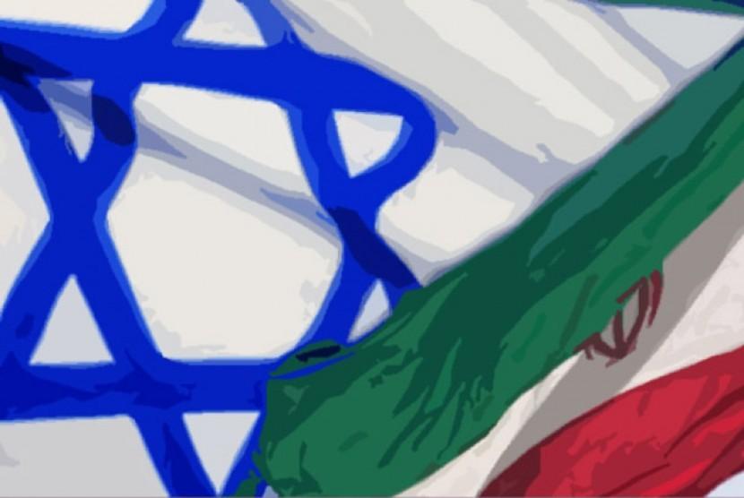 Israel vs Iran. (Ilustrasi)