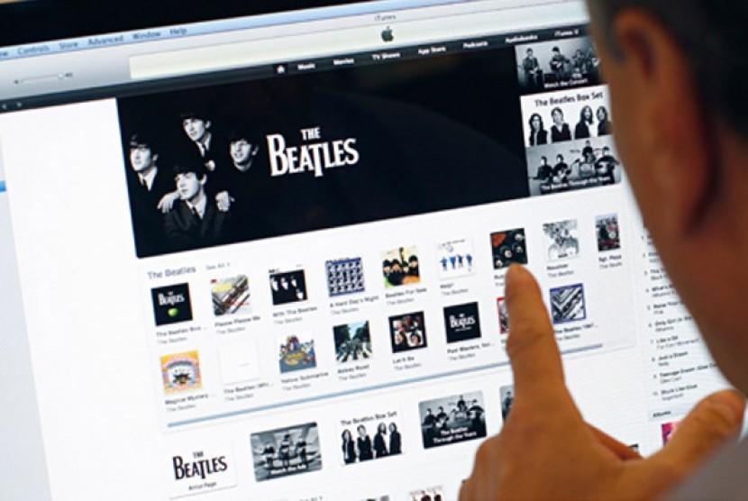 iTunes Store. Ilustrasi.