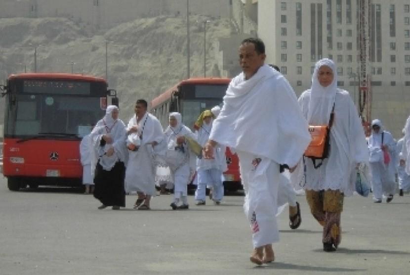 Jamaah haji di Kota Makkah.