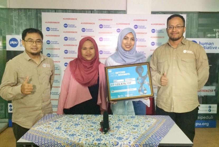 Jenahara menggalang dana kemanusiaan untuk Rohingya dan disalurkan melalui PKPU Human Initiative.