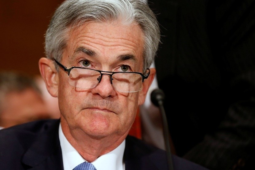 Jerome Powell, Gubernur Bank Sentral AS Federal Reserve (Fed).