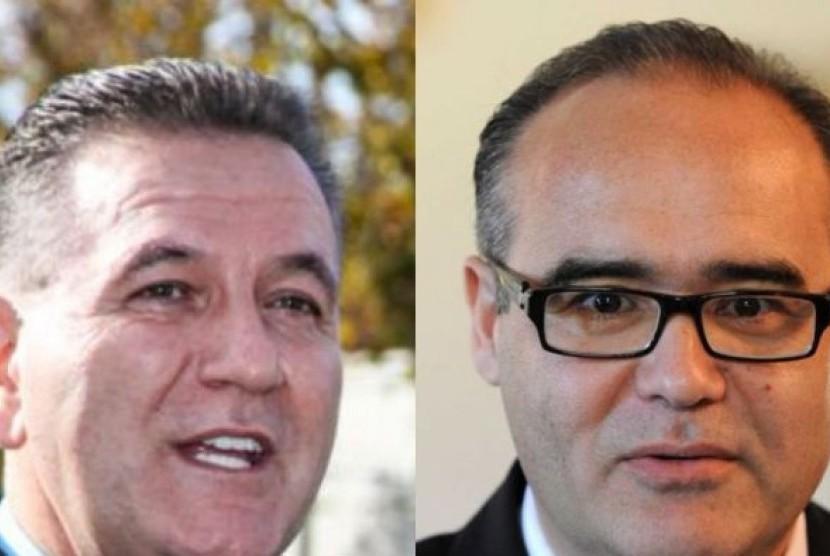 John Eren (kiri) dan Adem Somyurek adalah tokoh senior di Partai Buruh negara bagian Victoria.