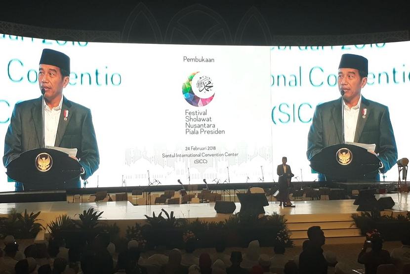 Presiden Joko Widodo membuka Festival Sholawat Nusantara