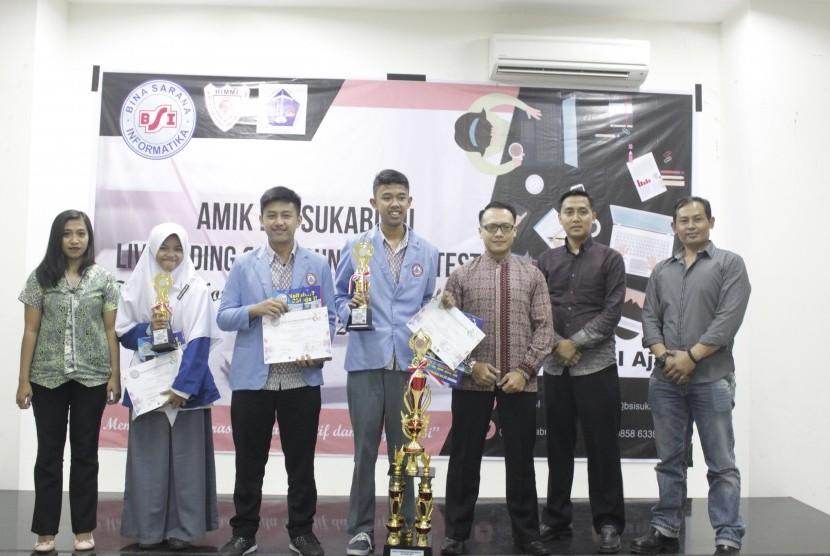 Juara AMIK BSI Live Coding & Live Accounting Contest 2017.