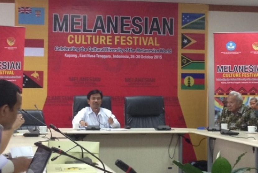 Jumpa pers Festival Melanesian di Kementerian Pendidikan dan Kebudayaan RI
