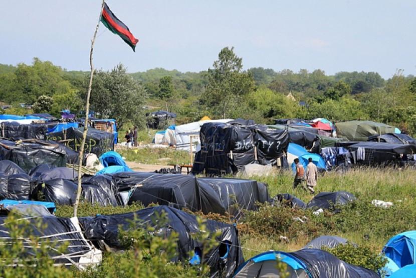 Kamp migran di Calais, Prancis