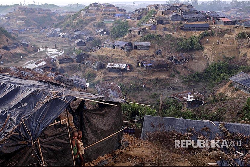 Anak Rohingya di Kamp pengungsi Rohingya di Balukhali-Ukhiya, Bangladesh