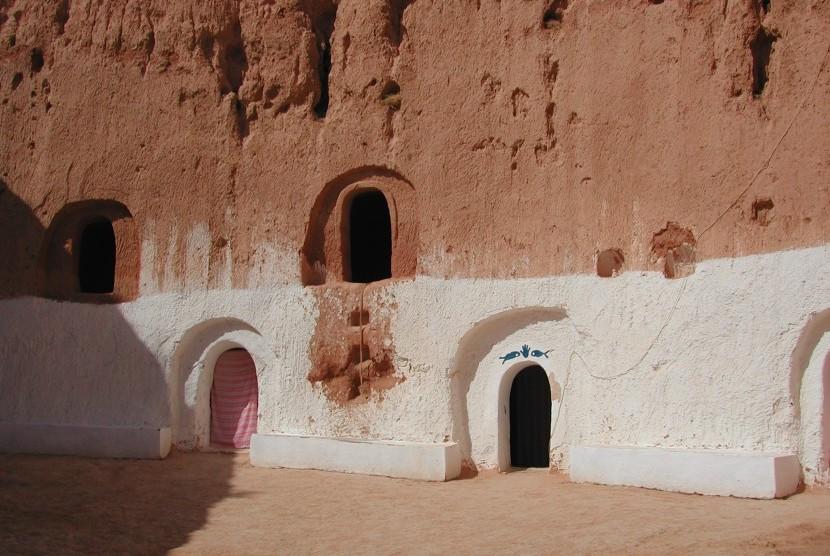 Kampung bawah tanah di Matmata, Tunisia.