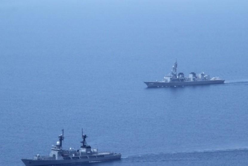 Kapal patroli di Laut Cina Selatan.