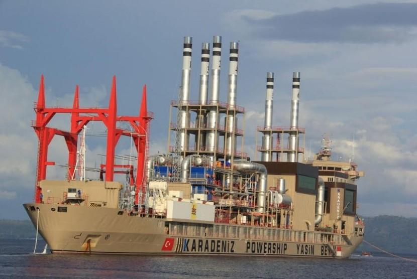 Kapal pembangkit listrik / Ilustrasi