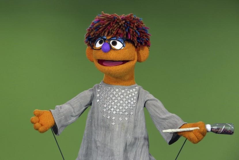 Karakter Zeerak di Sesame Street Afghanistan.