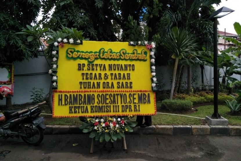 Bambang Soesatyo Kirimkan Karangan Bunga untuk Setnov