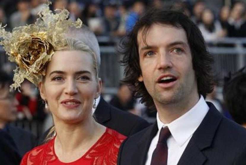 Kate Winslet dan Ned Rocknroll, suami ketiganya.