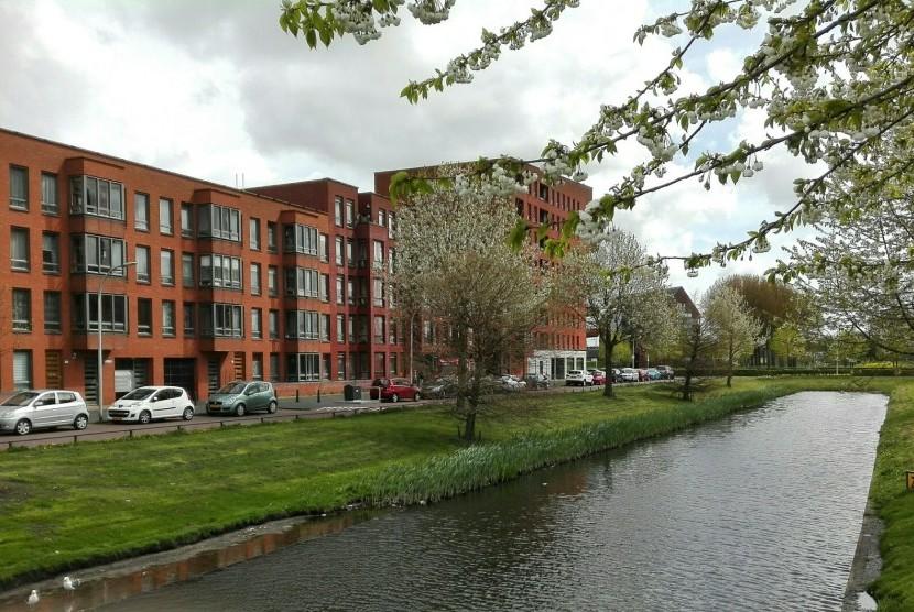 Kawasan perumahan di salah satu kota di Belanda.
