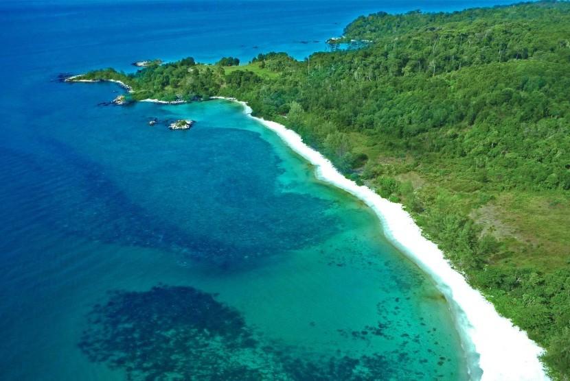 Kawasan wisata Lagoi Bay Bintan.