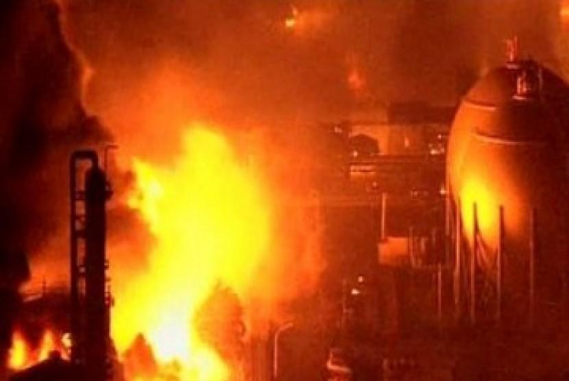 Kebakaran pascagempa Jepang