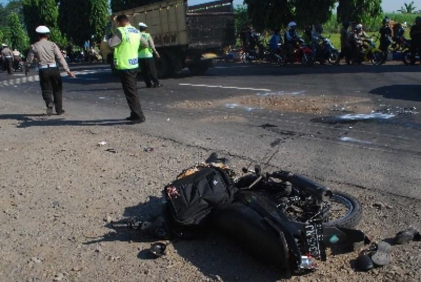 Kecelakaan lalu-lintas yang menelan korban jiwa (ilustrasi).