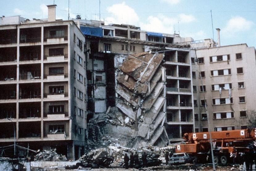 Kedubes AS di Lebanon dihantam serangan bom pada 1983.