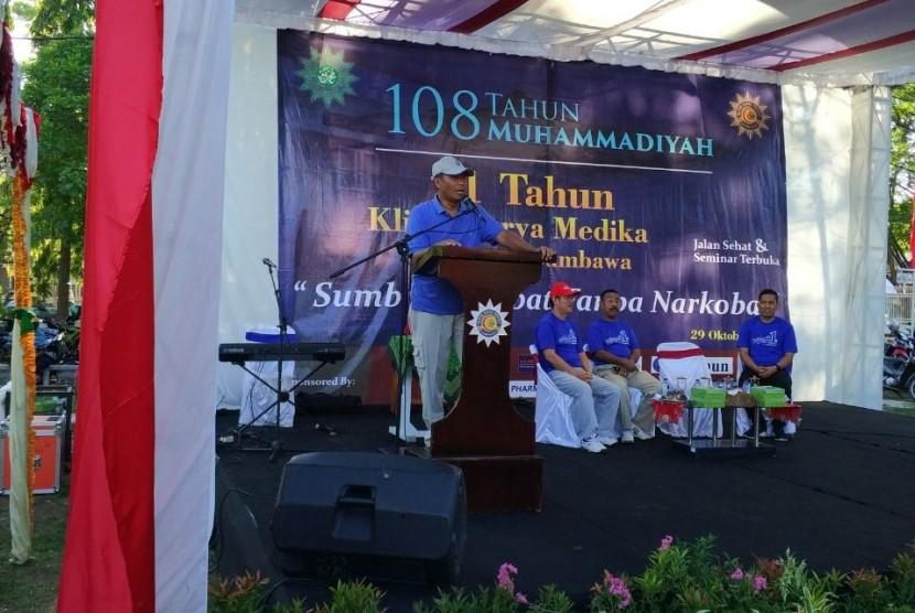 Kegiatan pada milad pertama Klinik Surya Medika Sumbawa, Ahad (31/10)