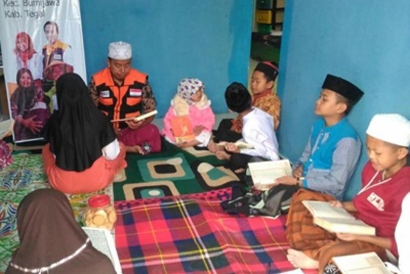 Kelas hafalan Alquran yang diadakan Rumah Zakat di Kabupaten Tegal.