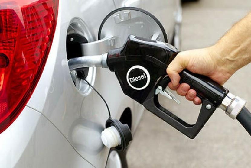 Kendaraan diesel. Ilustrasi