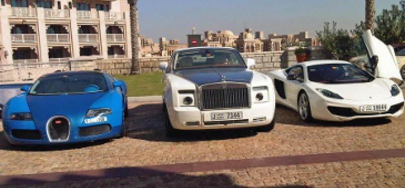 Kendaraan super mewah di Dubai