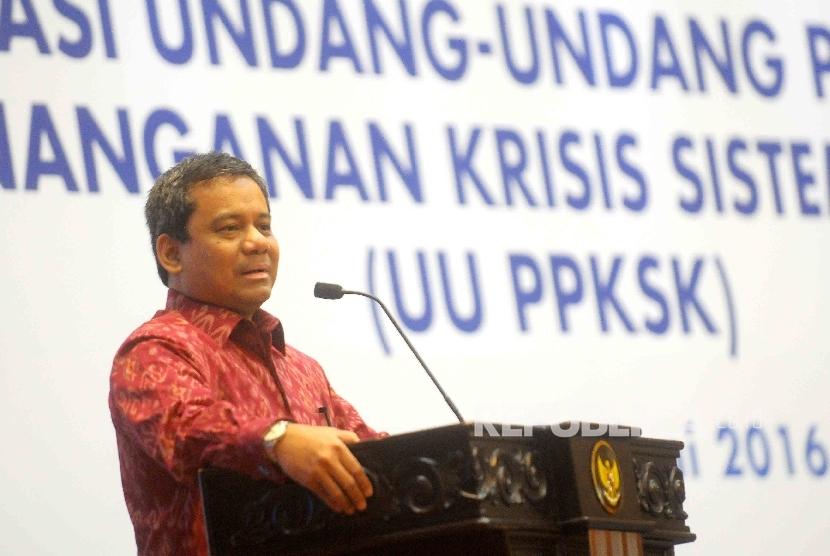 Kepala Badan Kebijakan Fiskal Kementerian Keuangan Suahasil Nazara. (Republika/Agung Supriyanto)