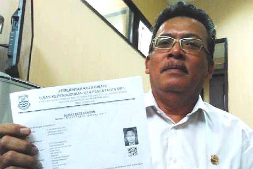 Kepala Dinas Kependudukan dan Catatan Sipil (Disdukcapil) Kota Cimahi M Suryadi SH.