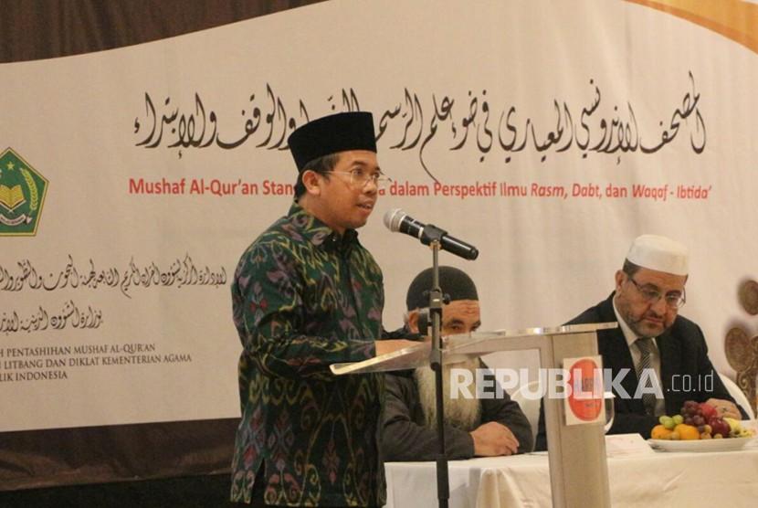 Kepala Lajnah Pentashihan Mushaf Alquran, Muchlis M Hanafi.