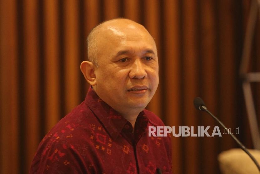 Kepala Staf Kepresidenan Teten Masduki memberikan pidato sambutanya saat menghadiri pembukaan