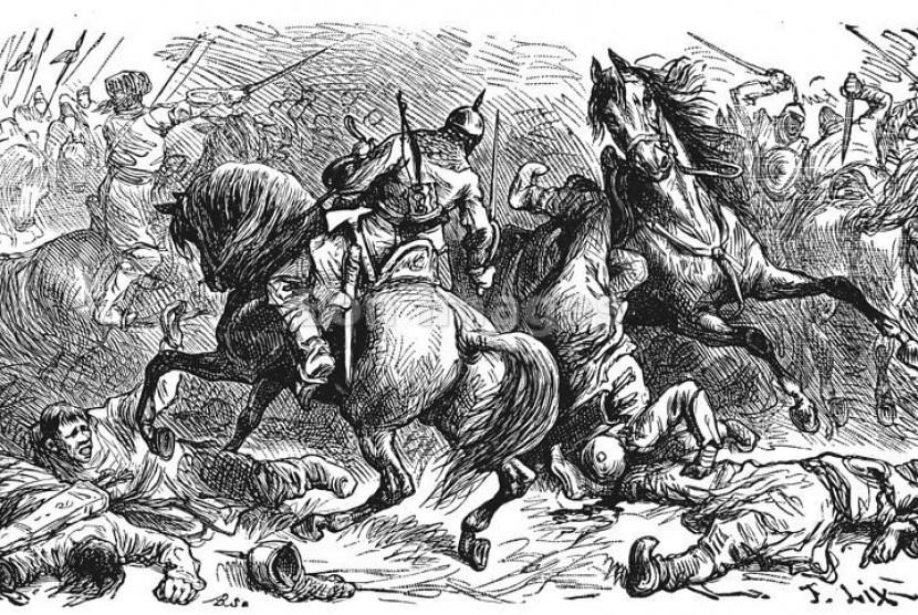 Keruntuhan Dinasti Umayyah (ilustrasi).