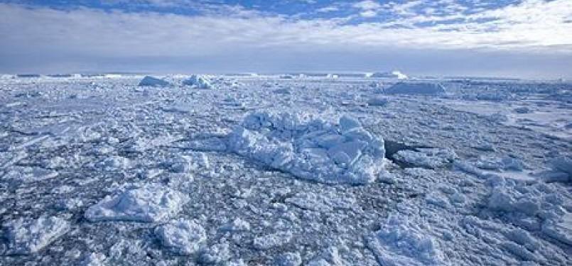 Kerusakan lapisan ozon di Kutub Selatan seluas 27 juta meter persegi. (ilustrasi)