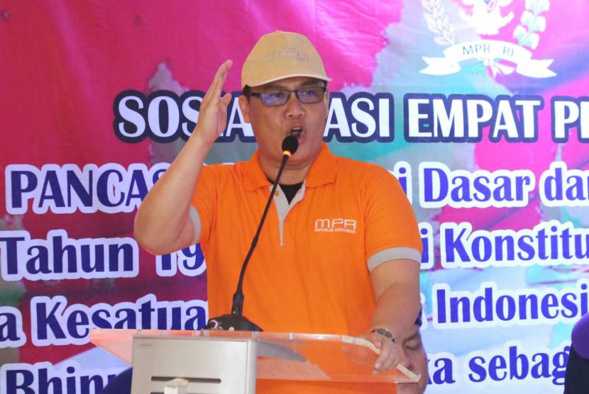 Ketua Badan Sosialisasi Empat Pilar Majelis Permusyawaratan Rakyat Republik Indonesia (MPR RI), Ahmad Basarah.
