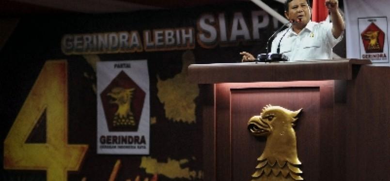 Ketua Dewan Pembina Gerindra Prabowo Subianto