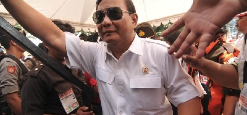 Ketua Dewan Pembina Partai Gerindra, Prabowo Subianto.