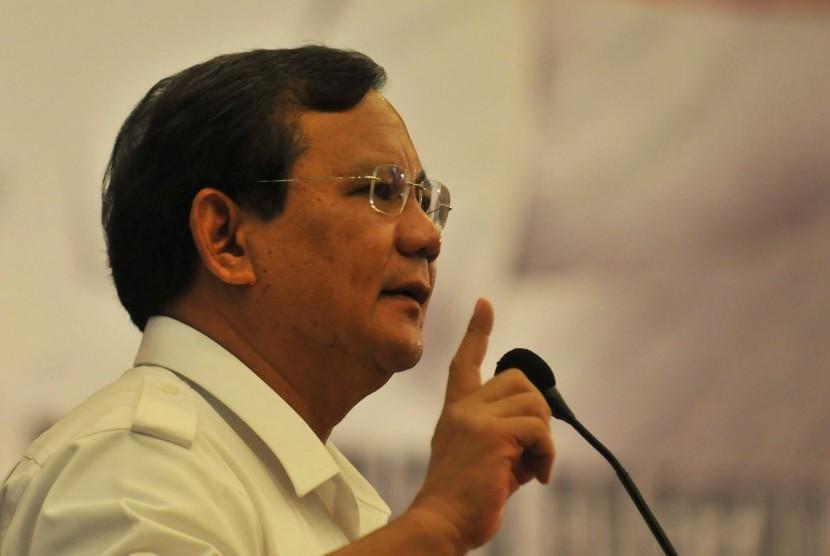 Ketua Dewan Pembina Partai Gerindra, Prabowo Subianto