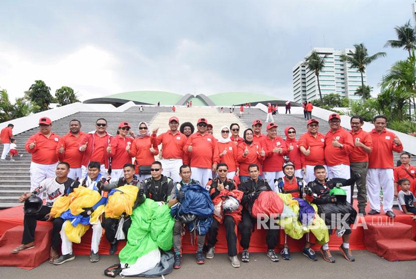 Ketua DPD RI Oesman Sapta didampingi Wakil Ketua DPD RI Nono Sampono dan Darmayanti Lubis hadir dan membuka Ulang Tahun DPD RI yang bertepatan dengan Hari Kesaktian Pancasila Di Gedung MPR/DPR/DPD RI Senayan Jakarta. Ahad (1/10).