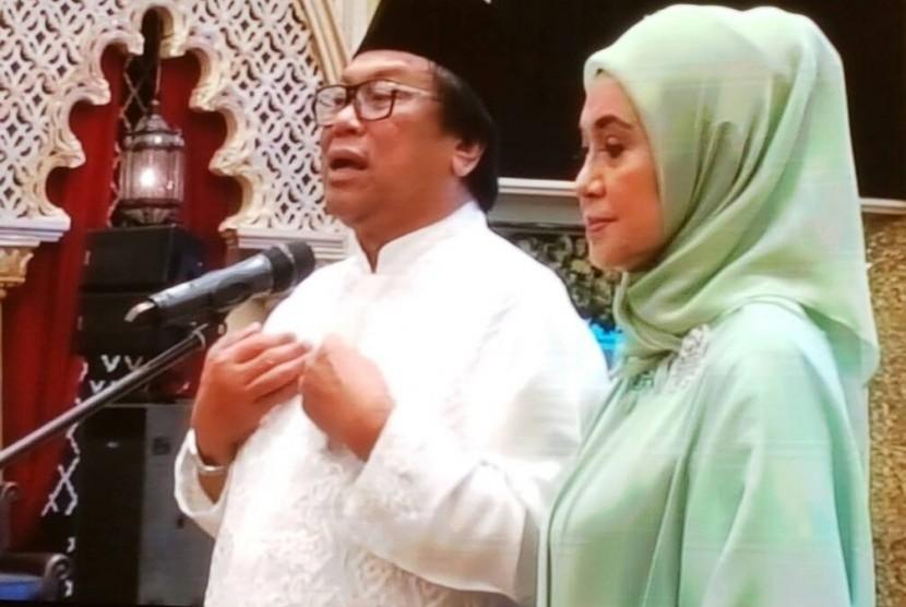 Ketua DPD RI Oesman Sapta saat berbicara di acara buka puasa bersama GEBU MINANG di Jakarta, Ahad (18/6) lalu