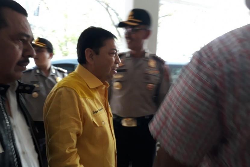 Ketua DPP Partai Golkar Setya Novanto kembali memimpin Rapat Pleno Partai Golkar setelah sembuh dari sakit, Rabu (11/10)