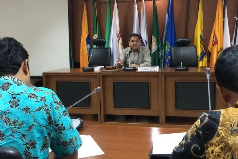Ketua Komite II Parlindungan Purba menerima kunjungan dari DPRD Provinsi Bengkulu hari Selasa (20/6).
