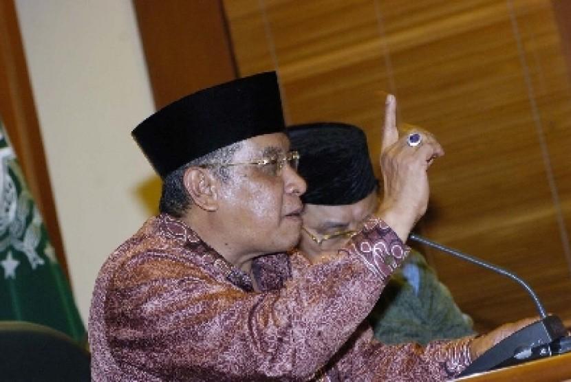 Ketua Pengurus Besar Nahdlatul Ulama (PBNU) KH Said Agil Siroj.