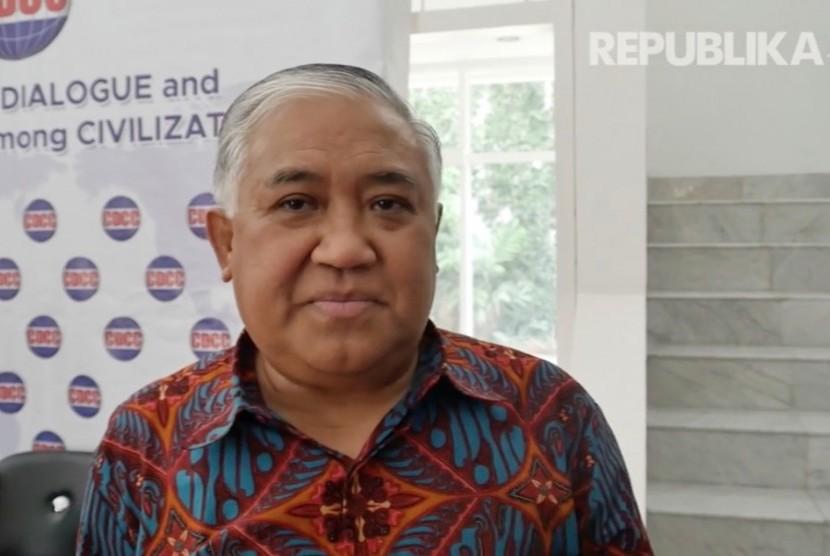 Ketua Presidium Inter Religion Council (IRC), Din Syamsuddin
