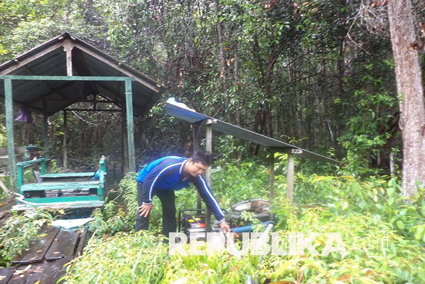 Laboratorium Alam Hutan Gambut, di Desa Kireng Bangkirai, Kecamatan Sabangau, Palangkaraya, Provinsi Kalimantan Tengah. Selasa(2/3)