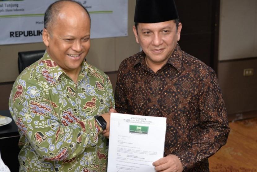 Ilham Habibie Serahkan Rekomendasi ke Ketua Kadin Sumut