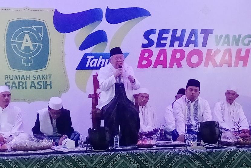 Ketua Umum Majelis Ulama Indonesia (MUI) KH. Ma'ruf Amin menghadiri milad ke-37 RS Sari Asih.